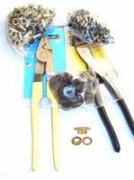 Crimps  - Rivet Caps, Pliers, Washers & Grommets