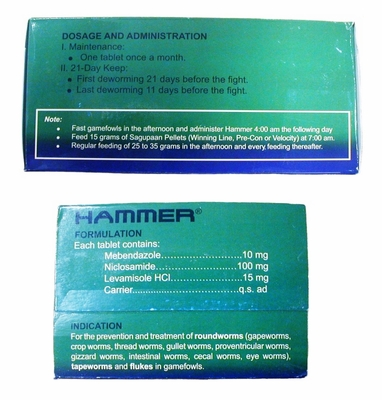 Hammer Worming Tablets  100 tablets