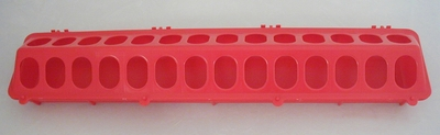 "Miller #820 plastic 20"" chick feeder red"