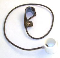 Nylon cord (Oklahoma) Slip Hitches on nylon, rubber or weed eater cord, with or without metal swivels and/ or stakes