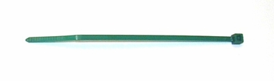 Plastic cable tie leg band    100 DARK GREEN