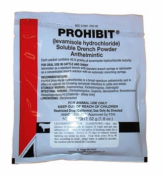 Prohibit  Soluble Powder  (levamisole)   (not for sale in California)