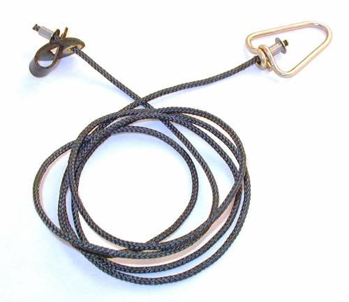 Short neoprene STAG  hitch on nylon cord with metal swivels (DOZEN)