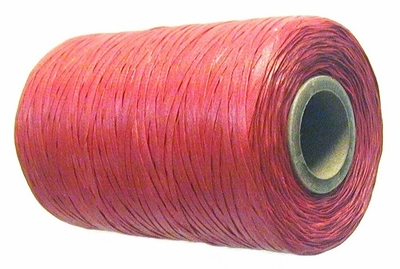 Waxed tie string  500 yard RED