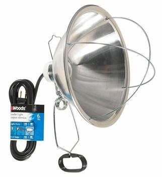 Woods Brooder Clamp Lamp (300-Watt capability)