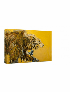 Bear with Black Bird -Wrapped Canvas