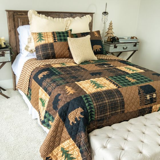 Brown Bear Cabin Quilt Sets