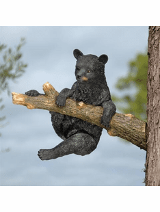 Out on a limb- Hanging Bear Cub Sculpture