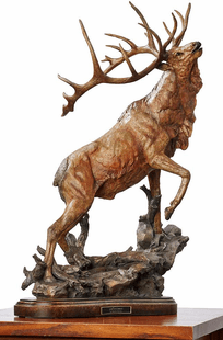 "Elk-""Call to Contest"" �Large Sculpture"