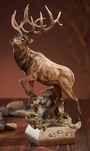 "Elk-""Hoofin� It"" Sculpture"