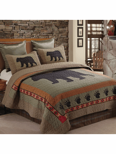Evergreen Bear Quilt Bedding Sets