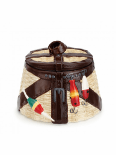 Fishing Creel Cookie Jar