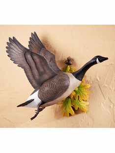 Flying Canada Goose Wall Sculpture