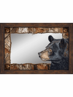 Forest Bear Framed Mirror