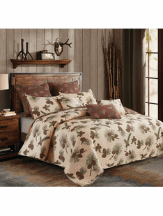 Forest Pinecone King Bedding Set
