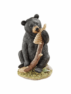 Honey The Curious Black Bear Cub Statue