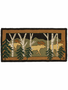 Moose In The Forest 2x4