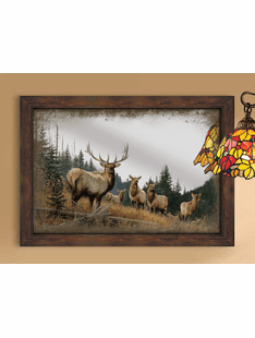 Royal Mist � Elk Framed Mirror