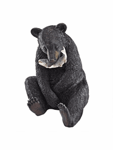 "The Fisherman - 22"" Black Bear Statue"