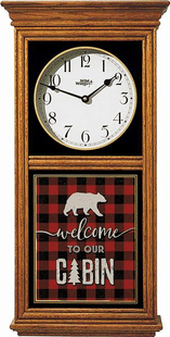 """Welcome to our Cabin""  � Bear Regulator Clock"