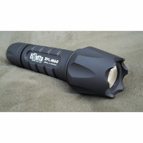 Elzetta ZFL-M60 Tactical LED Weapon Light Crenellated Bezel (2 Cell)