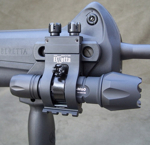 Elzetta ZROC Deluxe Offset Tactical Flashlight Mount
