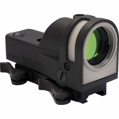 Meprolight M21 Self-Powered Day/Night Reflex Sight with Dust Cover (Triangle Reticle) - Mepro M21 T