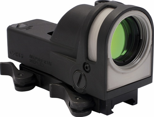 Meprolight M21 Self-Powered Day/Night Reflex Sight with Dust Cover (X Reticle) - Mepro M21 X