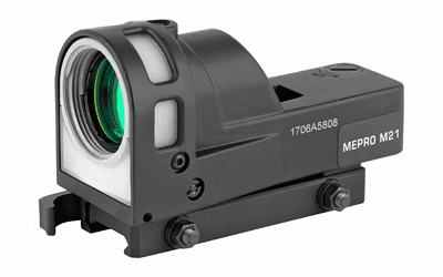 Meprolight M21 Self-Powered Day/Night Reflex Sight with Dust Cover (Bullseye Reticle) - Mepro M21 B
