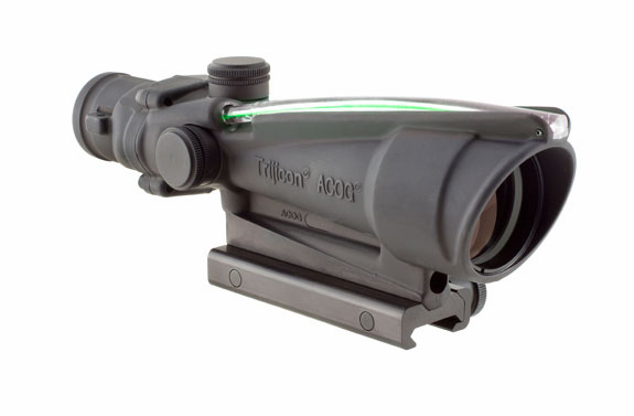 Trijicon ACOG 3.5X35 Scope, Green Chevron - 5.56 (.223)