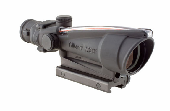 Trijicon ACOG 3.5X35 Scope, Red Chevron - 5.56 (.223)