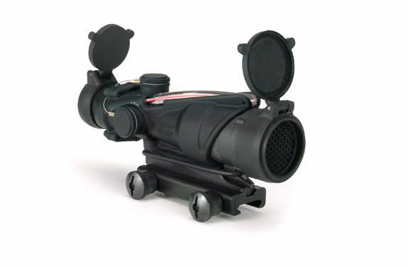 Trijicon ACOG 4X32 Scope, Red Chevron, M150