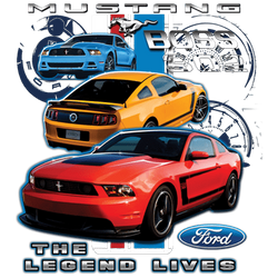 Wholesale Men's Women's Ford Mustang 302 Boss Car T Shirts Bulk Suppliers - 17952D2