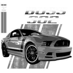 Cheap Bulk Wholesale Ford Mustang 302 T Shirts Bulk Suppliers - 19236ED1