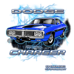 Wholesale Men's Women's Dodge Charger Car T Shirts Bulk Suppliers - 20337HD1