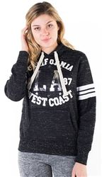 Women's Wholesale Clothing Boutique Supplier Hooded Sweatshirt - 4200N-FH-159-Blk-1