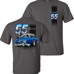 Wholesale Men's Women's Youth Muscle Car T Shirts Bulk Suppliers - 55-Nomad-Adult-T-Shirt
