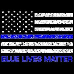 Plus Size Clothing, Blue Lives Matter Police T Shirts - a10648b