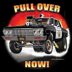 Funny Vintage Police Car T Shirts - a11255d