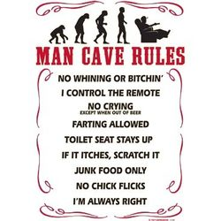 Man Cave Rules Discount Clothing Graphic Drop Shipping Funny Gildan Cool Sayings Print T Shirts Wholesale - a6367c
