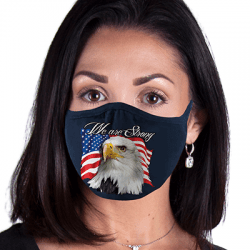 Patriotic Eagle flag Art Brands Heat Transfers, Virus Face Masks, Funny Graphic Screen Printed, Wholesale Supplier - Face Masks