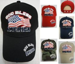 God Bless America With Flag Hat Cheap Wholesale Online Drop Shipping