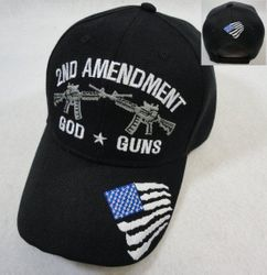 Wholesale Custom Men's Gun 2nd Amendment Baseball Caps Cheap Hats - MSC Distributors