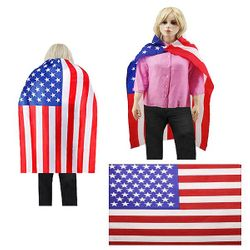 Wholesale Flag Costumes For Sale - BESE 253 WEARABLE AMERICAN CAPE