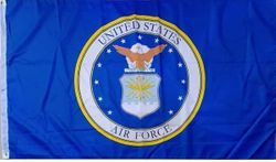 Wholesale Best Flags in the World - FLG603B Air Force Emblem Flag 3x5'