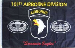 Wholesale Best Flags in the World - FLG626A 101 Airborne Flag  Parachutt 3x5'