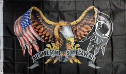 Best Military Surplus Supplier Bulk Cheap - Flag017. Wholesale 3'x5' POW MIA All Gave Some Some Gave All Flag