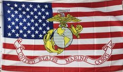 Best Military Surplus Supplier Bulk Cheap - Flag1407. Wholesale Licensed Marine with American Flag Background