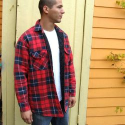 Wholesale Clothing, Best Selling USA Winter Cold Weather Hats Gloves, Coats, T-Shirts, #240-QLT Men's Yarn Dyed Quilted Flannel Shirts - M-2X - $6.90 each (24ea.)
