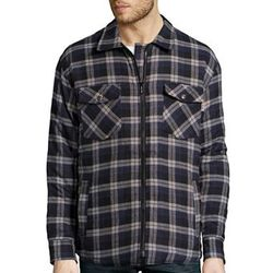 Wholesale Clothing, Best Selling USA Winter Cold Weather Hats Gloves, Coats, T-Shirts, #240-QLTZ Yarn Dyed Quilted Flannel Shirts(Zipper) - $6.90 ea. (24 piece